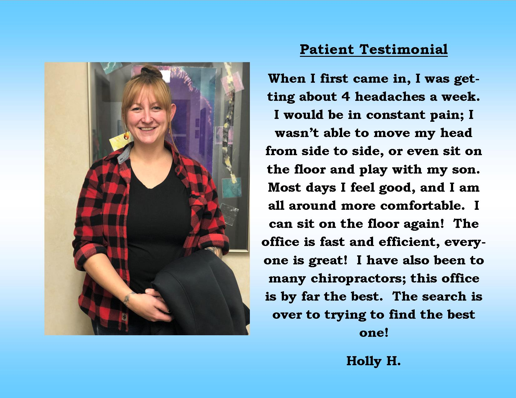 Holly H patient testimonial
